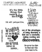 Stampers Anonymous/Tim Holtz - Cling Mount Stamp Set - Good Thoughts - CMS085